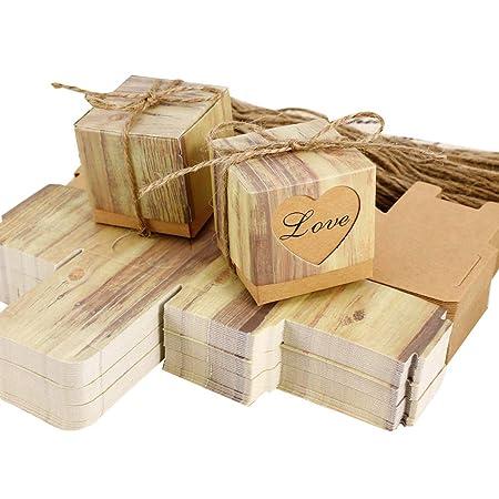 Lystaii 50 piezas caja de dulces regalo de boda caja de ...