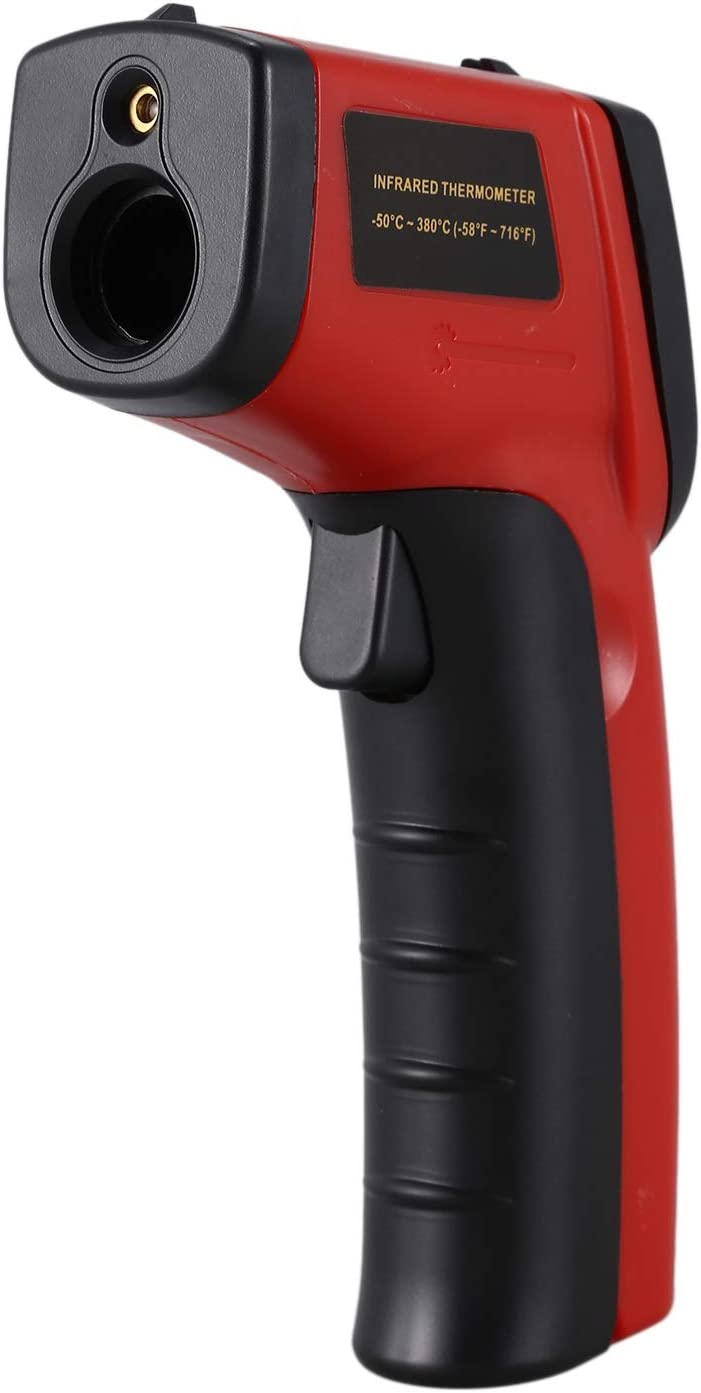 red WOVELOT Digital Infrared Thermometer Non-Contact IR Temperature Instant-Read Emissivity 0.95 Fixed
