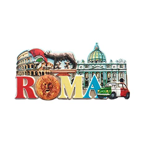 Amazon.com: Pegatinas magnéticas para nevera, diseño de Roma ...