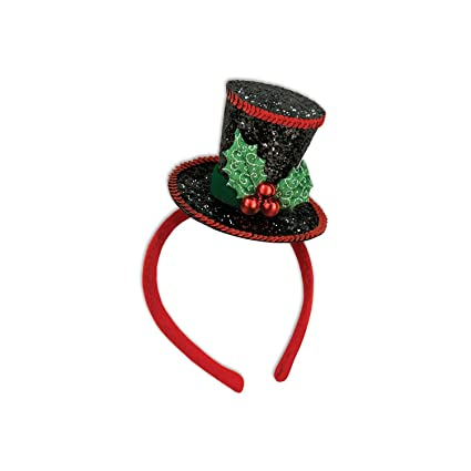 6578954149b10a Amazon.com  Party Central Pack of 12 Sequined Caroler s Top Hat ...