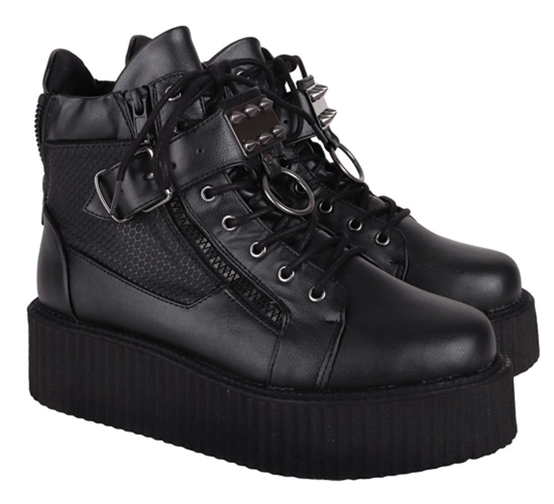 SharpSpirit Steampunk Streetwear Military Combat High Top Platform Mens Boots 3
