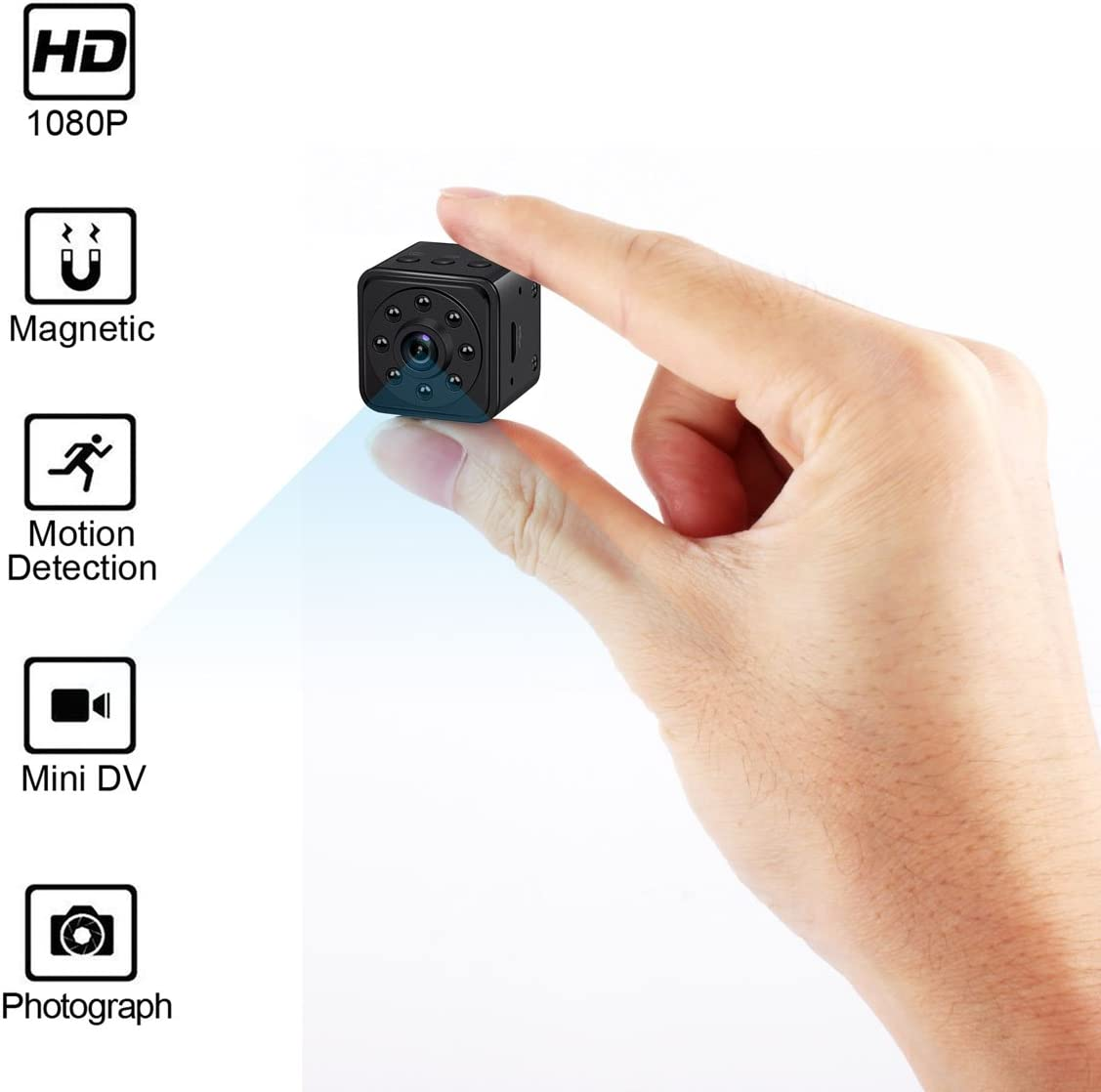 Mini Spy Camera Hidden Camera HoHoProv HD 1080P Portable Mini Nanny Cam Security Camera with Motion Detection and Night Vision