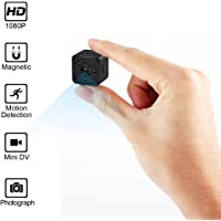Spy Hidden Camera-HD 1080P Portable Mini Security Camera Nanny Cam with Night Vision/Motion Detection/Home and Office,Indoor/Outdoor Use-No WiFi Function (Supports 128G SD Cards)