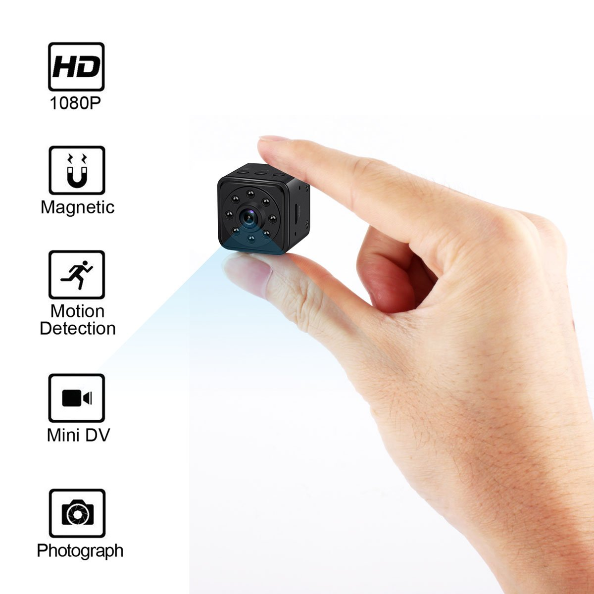 Mini Spy Camera Hidden Camera HoHoProv HD 1080P Portable Mini Nanny Cam Security Camera with Motion Detection and Night Vision by HoHoProv
