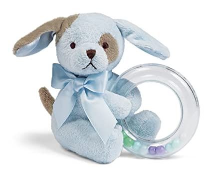 Amazon Com Bearington Baby Waggles Plush Stuffed Animal Blue Puppy