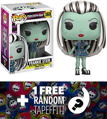 - Monster High Frankie Stein: Funko POP! x Vinyl Figure + 1 FREE Official Mini-Tapeffiti Bundle (116138)