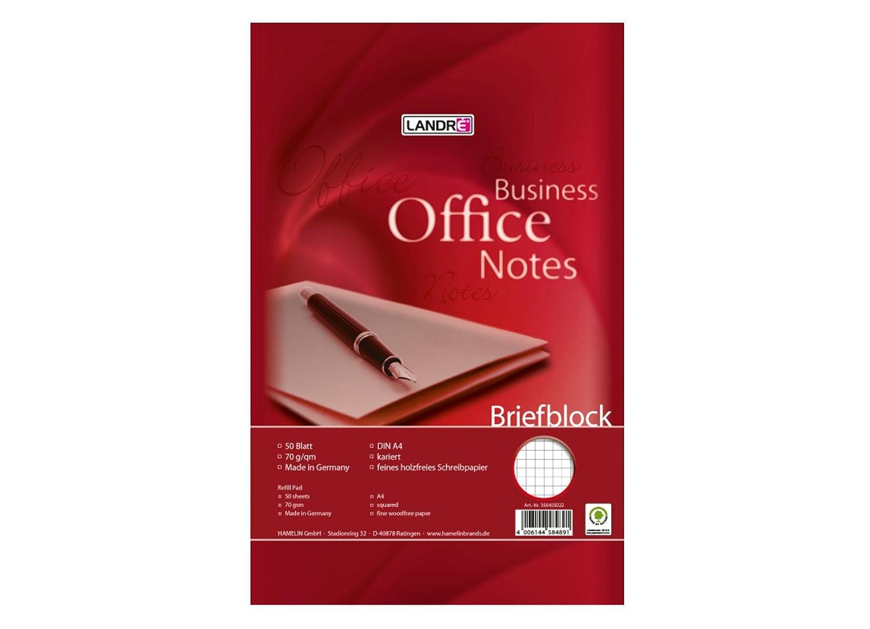 Lote de 10 libretas A4 Landre Office 100050264 70 g//m/² 50 hojas cuadriculadas
