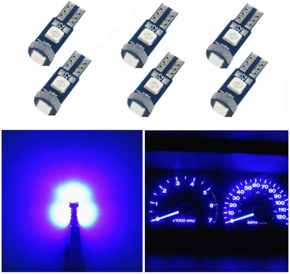 10 SUPER BRIGHT Clear 74 Incandescent Instrument Panel Lamp Light Bulb T5 NOS
