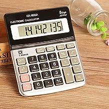 Large Buttons Plastic Keys 8 Digits Calculator Handheld Portable Lightweight Desktop Battery Calculator Office Use