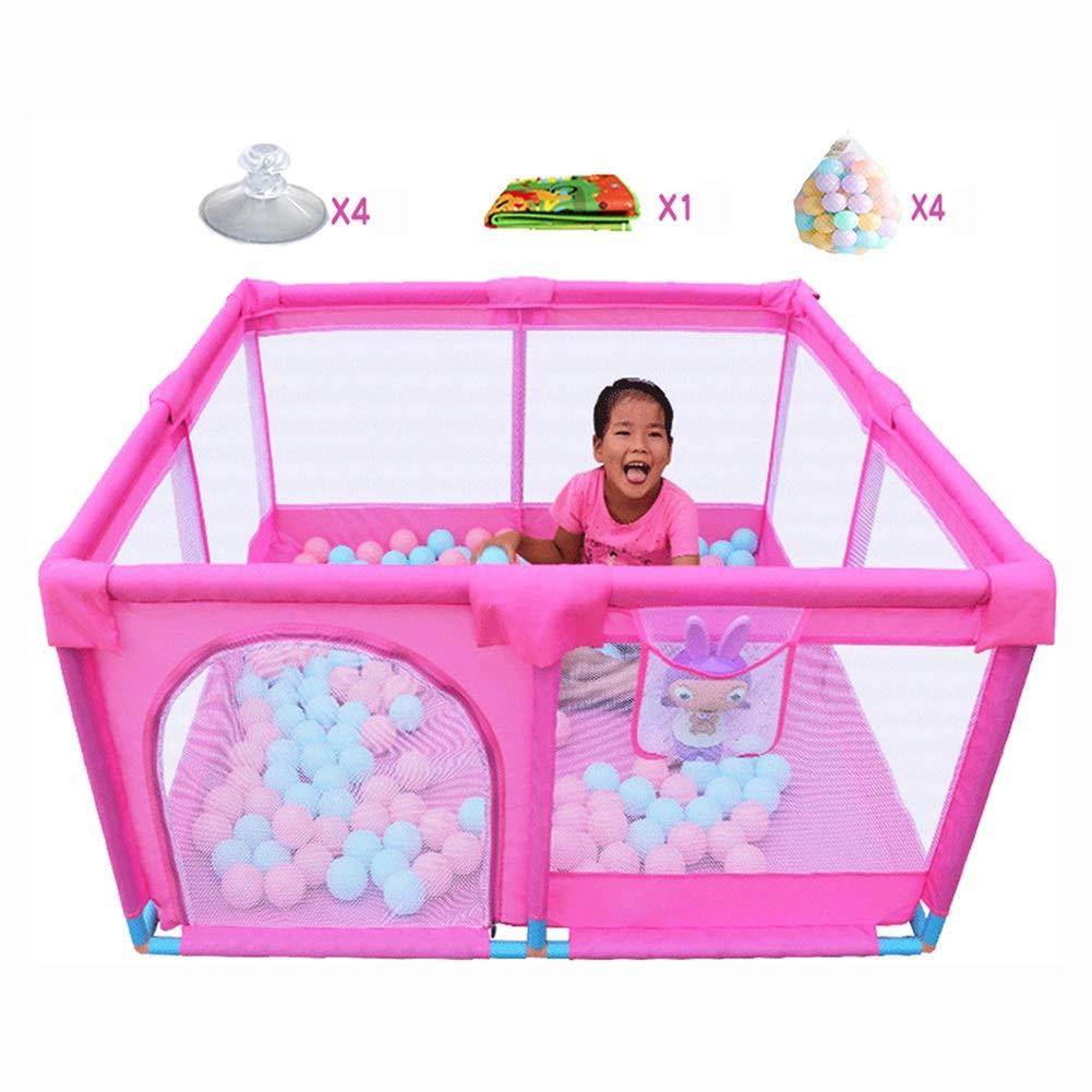 【第1位獲得!】 ボールとクロールマット付きのPlayardポータブルベビープレイペン、室内の屋外幼児のアクティビティセンターNon-slip、Pink B07KZ8PFL8 B07KZ8PFL8, 釣具のポイント:53c4a196 --- a0267596.xsph.ru
