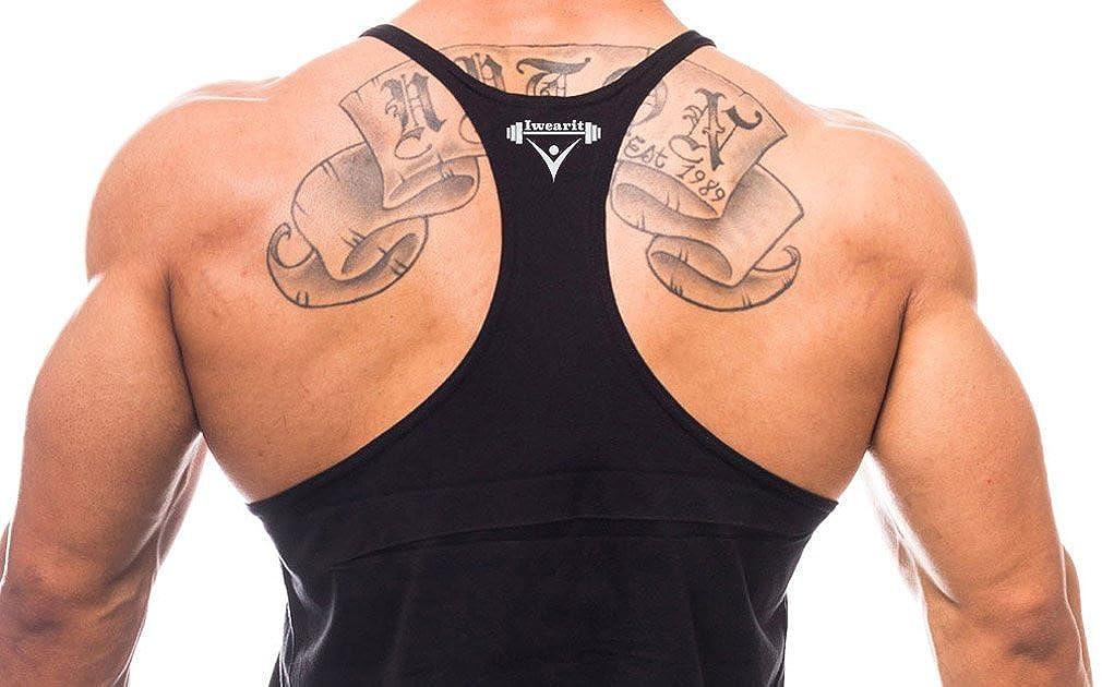 amazon com iwearit brand y back muscle tanktop straight bottom