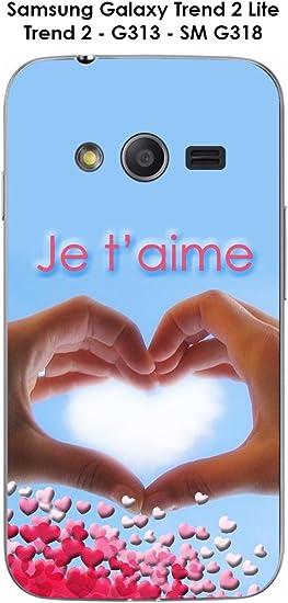 Coque Coeur avec les doigts - Je t'aime pour Samsung Galaxy Trend ...