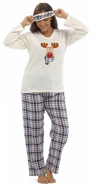 Tom Franks Mujer Fiestas De Navidad Diseño Pijamas De Forro Polar con Antifaz - sintético,