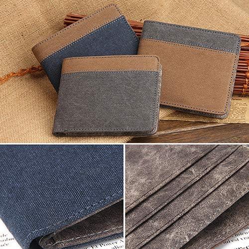 ywbtuechars Slim Genuine Leather Mens ID Credit Card Holder RFID Blocking Business Wallet Genuine Leather Wallets for Men