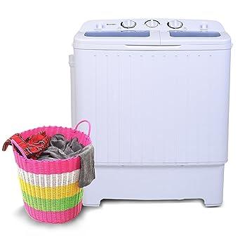 Kleine Waschmaschinen Toplader costway mini waschmaschine waschautomat mit schleuder toplader 4 5kg