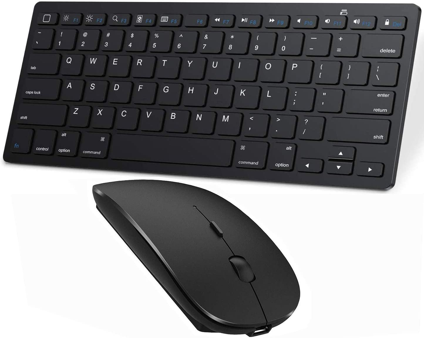 Bluetooth Keyboard and Mouse for iPad,ipad Keyboard and Mouse,Wireless Keyboard and Mouse for iPad iPad 10.2 / iPad Pro/iPad Air/iPad Mini (iPadOS 13 / iOS 13 and Above) (Black)