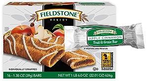Fieldstone Bakery Fruit & Grain Apple Cinnamon Bars, 6 Boxes, 96 Individually Wrapped Bars