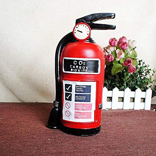Home Furnishing Gifts Crafts Decoration Fire Extinguisher Piggy Bank Give Gifts Red 17 19 9.5Cm