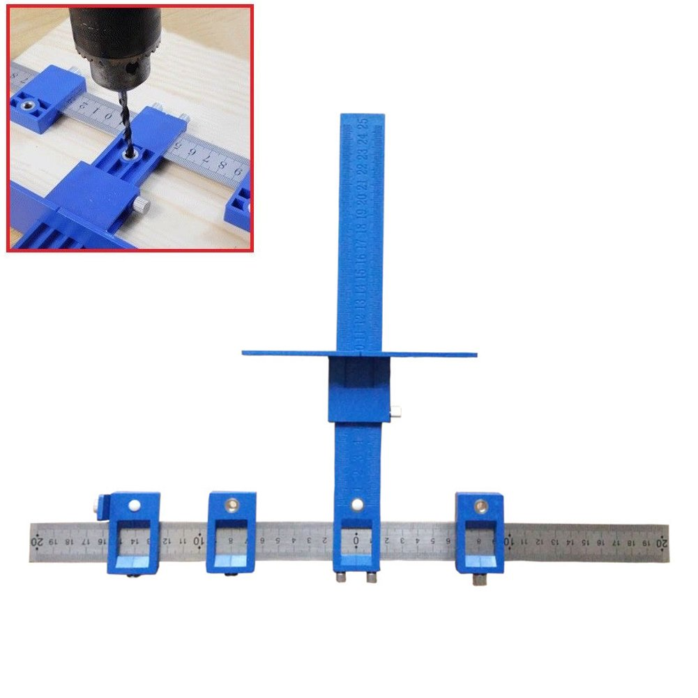 ROKOO Detachable Hole Punch Jig Tool Drill Guide Sleeve Cabinet Hardware Wood Drilling Dowelling