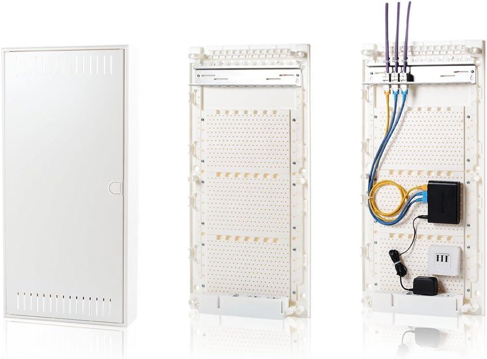 4/rang/ées Blanc F-Tronic Communication fusible Vision K Plaque de Montage Apv48/K Aufputz