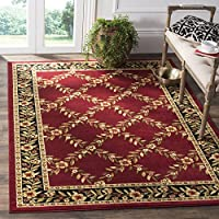 Safavieh Lyndhurst Collection LNH557-4090 Traditional Floral Trellis Red and Black Area Rug (53 x 76)