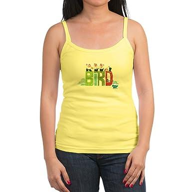 6c93c2620d1ee6 Amazon.com  CafePress - Bird is The Word 2 Jr. Spaghetti Tank - Jr ...
