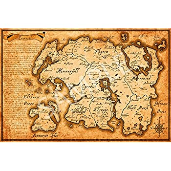 Best Print Store - Elder Scrolls Map of Tamriel Poster (16x24 inches)