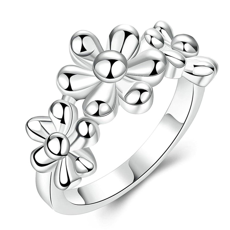 Epinki Damen Ringe Versilbert Trauringe Verlobungsring Elegant