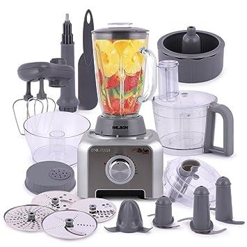 Palson My Kitchen 1000 - Robot de cocina 12 en 1, 1000 W, 1.5 l, accesorios de acero inoxidable, color plato: Amazon.es: Hogar