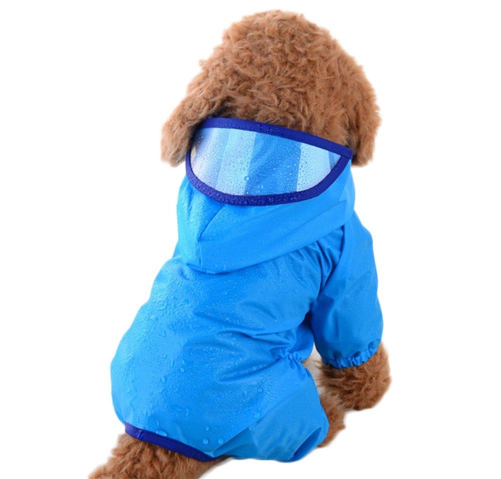 Manteau de pluie pour chien fabl Crew Bleu Imperméable Manteau de Pluie pour petit chien chat Fablcrew
