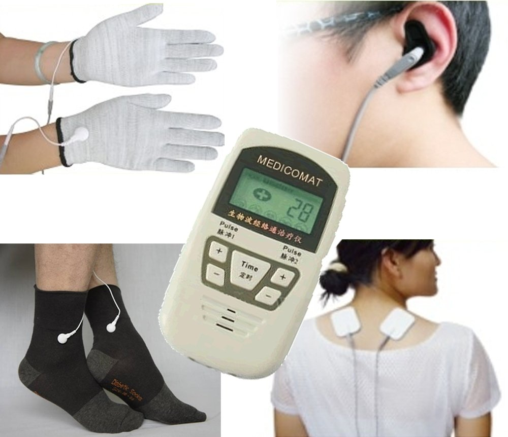 Diabetic Neuropathy Treatment Medicomat-10C Peripheral Neuropathy Symptoms Painful Diabetic Foot Conductive Socks Gloves