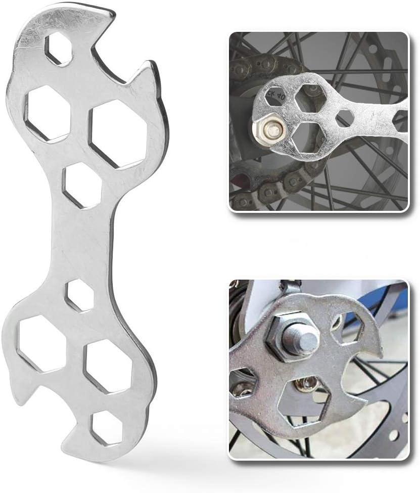 Bicycle Cone Wrench Repair Tools Set 10 in 1 SILVER US HI