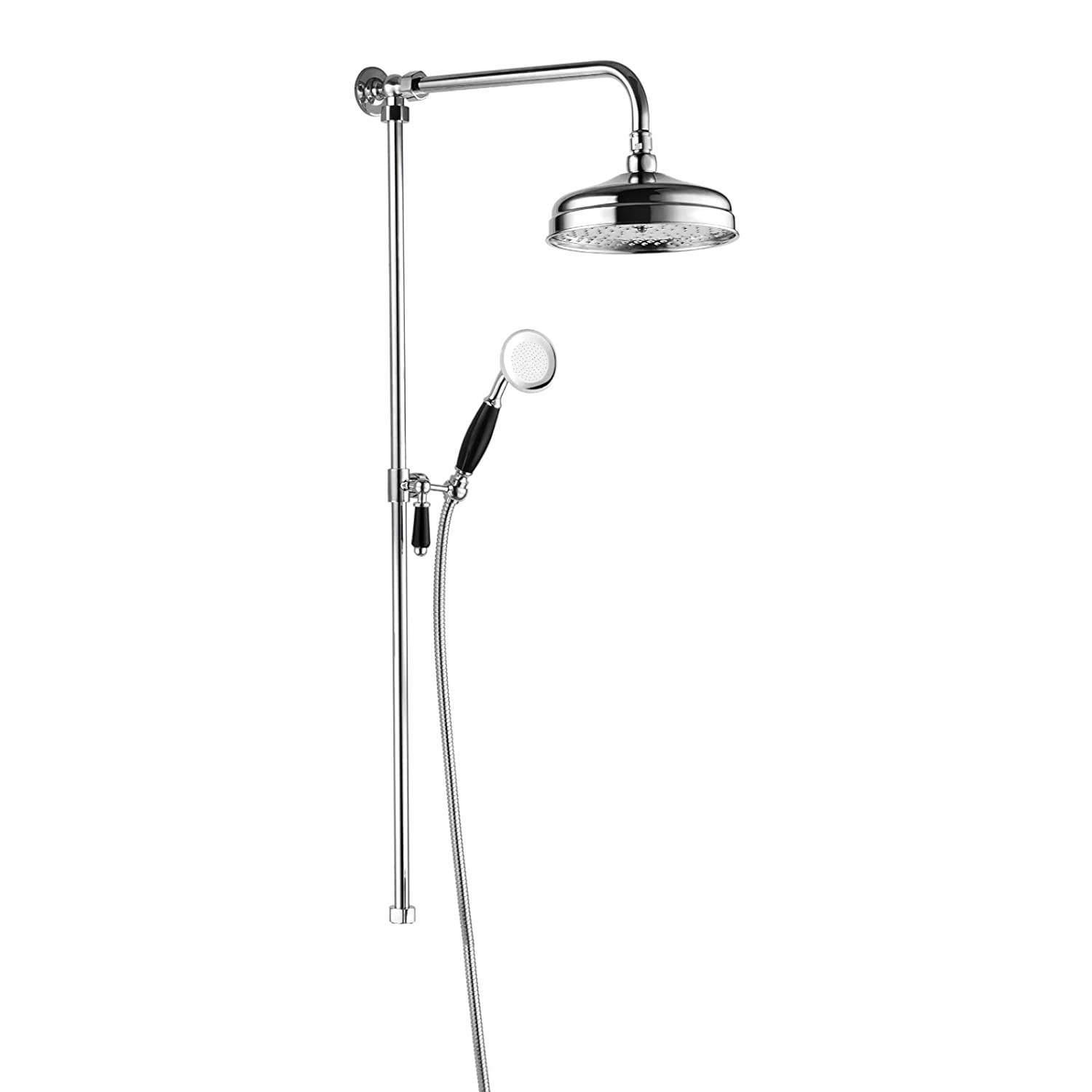 Victoria traditional shower riser rail kit 2 outlet watercan head ...