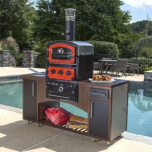 Alfresco Home 82-1004 Fornetto Alto Wood Fired Oven & Smoker for Built-In Use, Brick by Alfresco Home (Image #2)