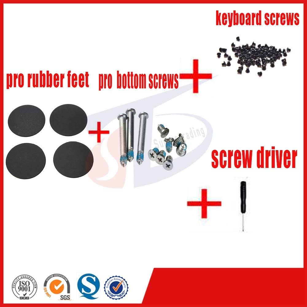 Cable Length: pro Part Computer Cables 4pcs//Set for MacBook pro 131517 A1278 A1286 A1297 pro Rubber feet Foot Bottom Keyboard Screws Set Screw Driver