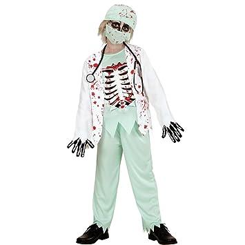 Amakando Traje Doctor niño Disfraz Infantil Zombie S 128 cm años 5 ...