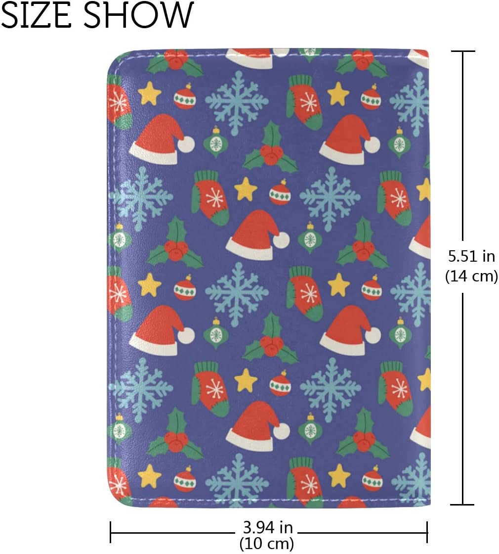 Ornaments Berenstain Bears Christmas Leather Passport Wallet for Passport Holder for Safe Trip durable Easy to Carry
