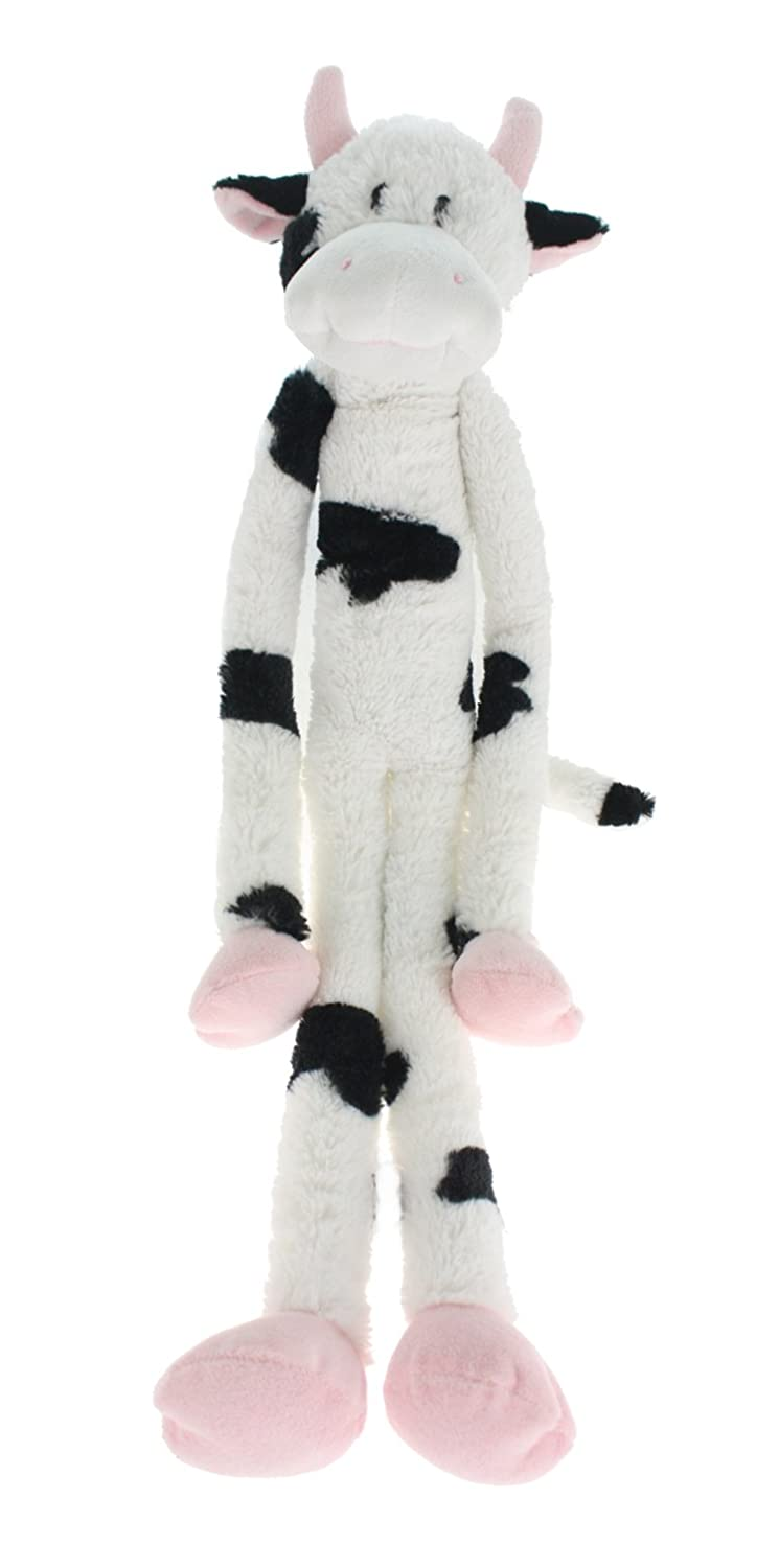 Multipet's Swingin Slevin XXL Oversized 30-Inch Spotted Cow Plush Dog Toy
