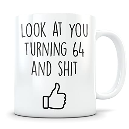 64th Birthday Gift For Women And Men Mug 64 Year Old