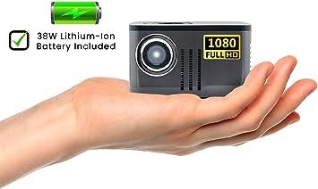 AAXA P7 Mini proyector con batería, resolución nativa 1080P Full ...