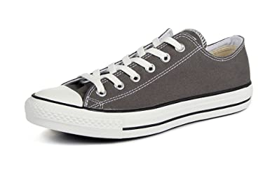 6b8ec556377 Converse Chuck Taylor All Star Seasonal Ox Men Round Toe Canvas Gray  Sneakers (10 D