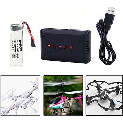 Batería RC Lipo, RC Quadcopter Drone 3.7V 500mAh Accesorio de ...