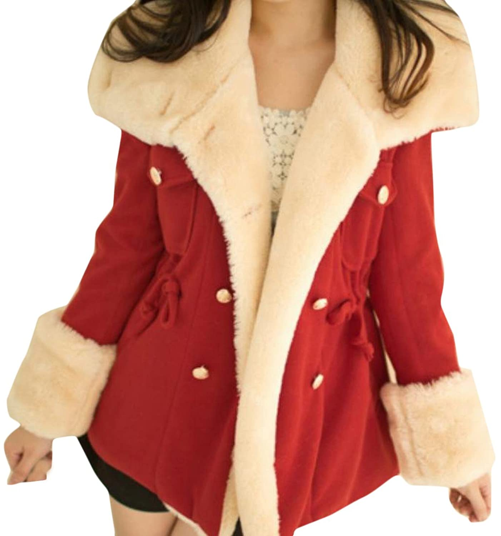 Binn Women's Thick Fall@Winter Stylish Long Sleeve Overcoat