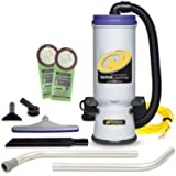 ProTeam Commercial Backpack Vacuum, Super CoachVac Vacuum Backpack with HEPA Media Filtration and Xover Multi-Surface 2…