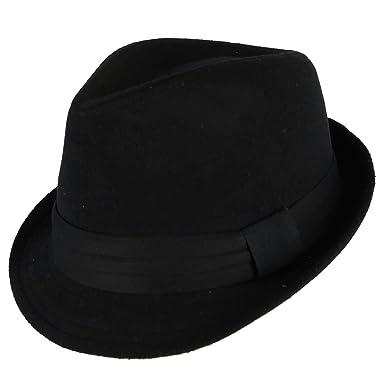 974c2aa598e45 Westend Men's Felt Trilby Fedora hat with Wide Hatband, Large/XLarge, Black