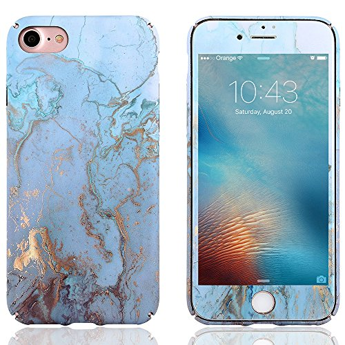 hone 6S Case LAPOPNUT Luxury Marble Pattern Map Design Case [ Free Screen Protector ] Stone Texture Collection Printed Ultra Slim Cover Hard PC Protective Back Case, Green ()