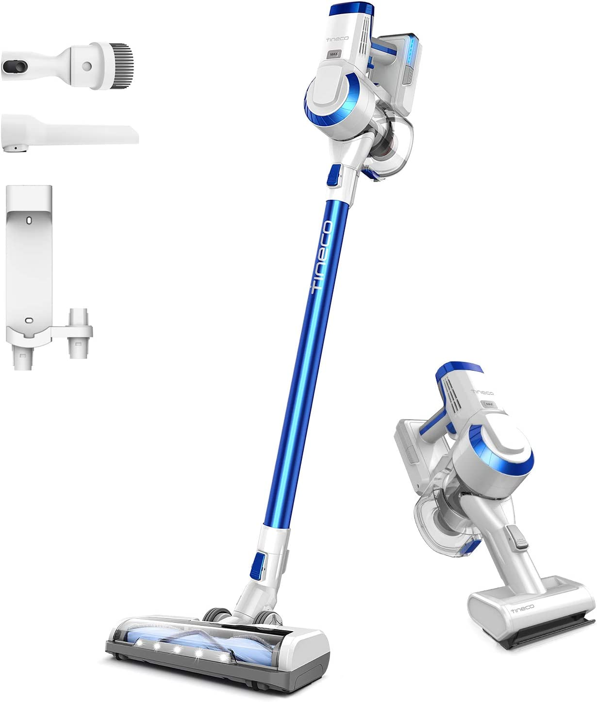 Tineco A10 Hero (Wall Mount) Cordless Stick Vacuum Cleaner, Powerful Suction, Multi-Surface Cleaning, Great for Pet Hair, Space Blue