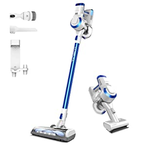 Tineco A10 Hero+ Cordless Stick Vacuum 2-in-1 Handheld Stick Vacuum 350W Rating Power High Suction LED Power Brush with Wall Mounted Dock for Hardwood Floor Carpet Pet Hair Clean