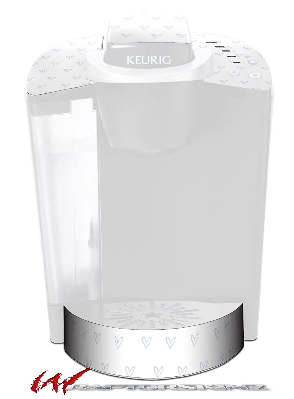 Heartsアイスブルー – デカールスタイルビニールスキンFits Keurig k40 Eliteコーヒーメーカー( Keurig Not Included )   B06VT1XQD6