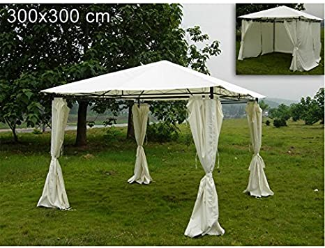 GAZEBO WITH CURTAINS 300X300 OUTDOOR GARDEN CAMPING STAND BUFFET ...